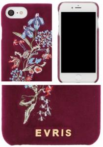 【即納】EVRIS【エヴリス】EMBROIDERYべロアiphoneケース iPhone6/6s/7対応/全3色