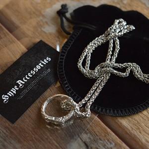 シルバー925 ネックレス チョーカー 蛇 リング 指輪 7997775【ALI】■05170124