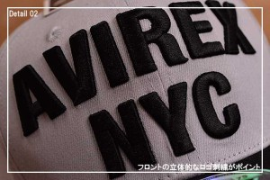 AVIREX アヴィレックス スナップバック キャップ 帽子 メンズ 14916600-85【GAL】■180228
