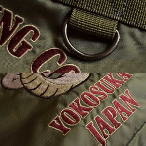 刺繍 MA-1 トートバッグ バッグ 7682-373 メンズ レディース スカジャンスタイル Embroidery Military GAZ 180724