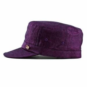 帽子 ワークキャップ メンズ ボルサリーノ 春夏新作 帽子 キャップ 麻100% リネン カラーワークキャップ ポイントカラー パープル 紫