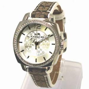 c9aa2609f487 コーチ 時計 レディース COACH アウトレット ボーイフレンド シルバー/カーキ ウォッチ レディス / 腕時計 14502416 n70707
