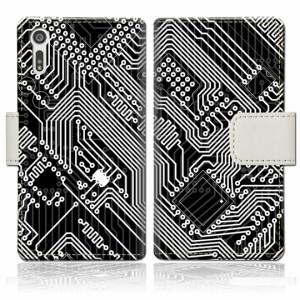 Xperia XZ SOV34 SO-01J 601SO 手帳型 ケース カバー sov34 手帳ケース 手帳カバー【CPUデザイン】