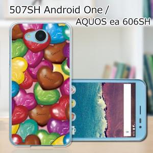 507SH Android One ワイモバイル/AQUOS ea 606SH softbank ハードケース/カバー 【チョコ PCクリアハードカバー】 スマートフォンカバー