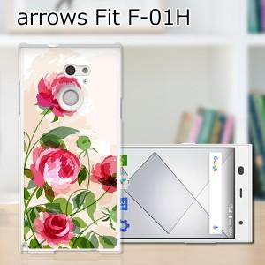 ARROWS Fit F-01H ハードケース/カバー 【薔薇絵画 PCクリアハードカバー】アローズ f01h スマートフォンカバー・ジャケッ