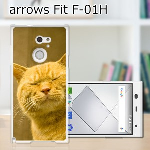 ARROWS Fit F-01H TPUケース/カバー 【吾輩は猫である名前はまだニャい TPUソフトカバー】アローズ スマートフォンカバー・