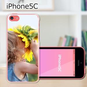 iPhone5c ハードケース/カバー 【ひまわり PCクリアハードカバー】アイフォン5c スマートフォンカバー・ジャケット