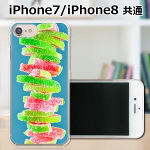 APPLE iPhone8 TPUケース/カバー 【積み上がるお菓子 TPUソフトカバー】 スマートフォンカバー・ジャケット
