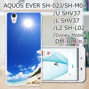 sc1706 AQUOS EVER SH-02J TPUケース/カバー 【ようこそ夏 TPUソフトカバー】 スマートフォンカバー・ジャケット