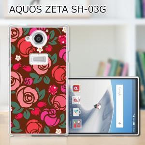 AQUOS ZETA SH-03G ハードケース/カバー 【薔薇 PCクリアハードカバー】 AQUOS ZETA SH-03G スマートフォンカバー・ジャケット