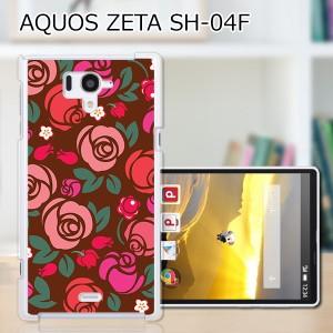 AQUOS PHONE SH-04F ハードケース/カバー 【薔薇 PCクリアハードカバー】アクオスフォン sh04f スマートフォンカバー・ジャケット