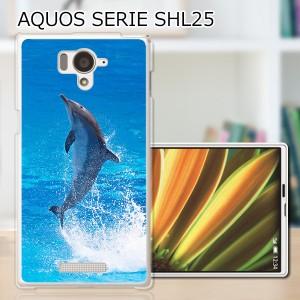 AQUOS PHONE SERIE SHL25 ハードケース/カバー 【ドルフィン PCクリアハードカバー】アクオスフォン shl25 スマートフォンカバー・ジャケ