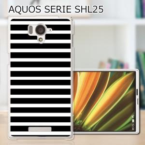 AQUOS PHONE SERIE SHL25 TPUケース/カバー 【ブラックボーダー TPUソフトカバー】アクオスフォン shl25 スマートフォンカバー・ジャケッ