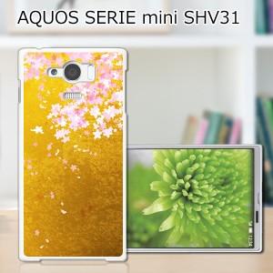 AQUOS SERIE mini SHV31 ハードケース/カバー 【新春桜:雅 PCクリアハードカバー】 AQUOS SERIE mini SHV31 スマートフォンカバー・ジャ