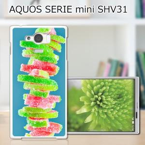 AQUOS SERIE mini SHV31 ハードケース/カバー 【積み上がるお菓子 PCクリアハードカバー】 AQUOS SERIE mini SHV31 スマートフォンカバー