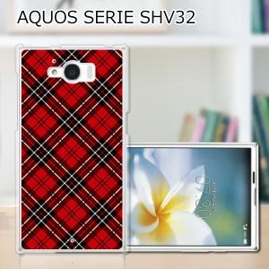 AQUOS SERIE SHV32 ハードケース/カバー 【AKチェック PCクリアハードカバー】 AQUOS SERIE SHV32 スマートフォンカバー・ジャケット