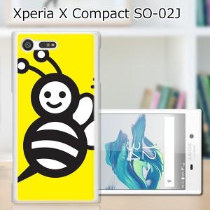 Xperia X Compact SO-02J ハードケース/カバー 【ハニーBee PCクリアハードカバー】 スマートフォンカバー・ジャケット