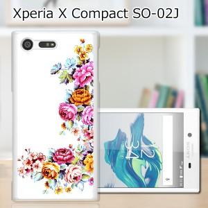 Xperia X Compact SO-02J ハードケース/カバー 【ワンポイントFLOWER PCクリアハードカバー】 スマートフォンカバー・ジャケット