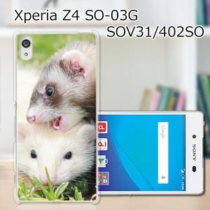 Xperia Z4 SOV31/SO-03G ハードケース/カバー 【フェレット PCクリアハードカバー】 Xperia Z4 SOV31/SO-03G スマートフォンカバー・ジャ