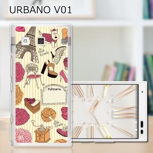URBANO V01 ハードケース/カバー 【PARISストライプ PCクリアハードカバー】アルバーノ V01 スマートフォンカバー・ジャケット