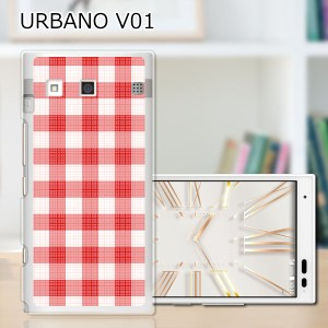 URBANO V01 ハードケース/カバー 【ワッフルチェック PCクリアハードカバー】アルバーノ V01 スマートフォンカバー・ジャケット