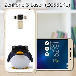 ZenFone3 Laser ZC551KL ハードケース/カバー 【サングラスとペンギン PCクリアハードカバー】  スマートフォンカバー・ジャケット