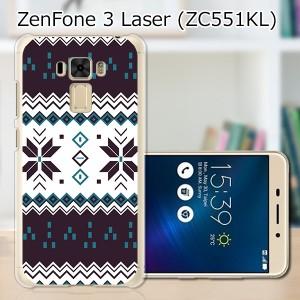 ZenFone3 Laser ZC551KL ハードケース/カバー 【ノルディック PCクリアハードカバー】  スマートフォンカバー・ジャケット