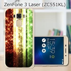 ZenFone3 Laser ZC551KL ハードケース/カバー 【オーロラストライプ PCクリアハードカバー】  スマートフォンカバー・ジャケット