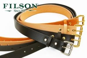 フィルソン FSM0204 レザーベルト / FILSON メンズ カジュアル スーツ 紳士 細身 ビジネス アクセサリー 牛革 K(ブラック)・BR(ブラウン)