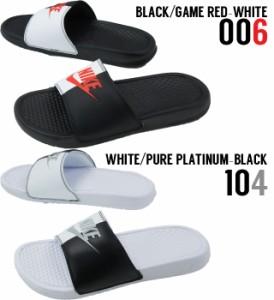 ナイキ NIKEベナッシ JDI メンズ レディース シャワーサンダル 343880 黒 白 赤 ブラック レッド ホワイト スポサン シャワーサンダル コ