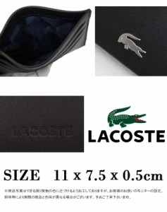 ラコステ LACOSTE NH2346 カードケース 送料無料 メンズ レディース カードホルダー ICカード クレジットカード入れ 名刺入れ evid