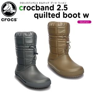 【51%OFF】クロックス(crocs) クロックバンド2.5 キルテッド ブーツ ウィメン(crocband 2.5 quilted boot w) 《12813》[C/C]