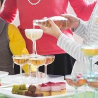 5個セット(2段用)割れない樹脂素材 トライタン シャンパンタワー用グラス