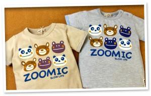 ベビー服 男の子 Tシャツ 半袖 ZOOMIC ズーミック キャラクタープリント スナップボタン 男児 ベビー【メール便OK】