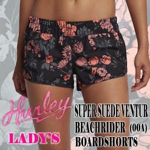 HURLEY/ハーレー LADYS SUPER SUEDE VENTUR BEACHRIDER BOARDSHORTS 00A 女性用 サーフパンツ ボードショーツ