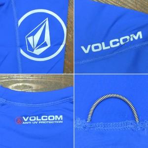 VOLCOM/ボルコム メンズ半袖ラッシュガード SOLID S/S ESB RASHGUARD DSRUPF50+ 男性用水着 UVカット 111600
