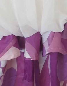 Delyle NOIR(デイライルノアール)ワンピース/ミニ・ミディアム丈/白/紫//Aランク//99