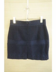 couture BY ROJITA(クチュールバイロジータ)スカート/ミニ・ショート丈/紺/刺しゅう//Aランク