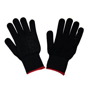 手袋 滑り止め付 伸縮タイプ Mサイズ ブラック
