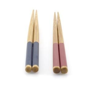 箸 23cm 竹製 箸先四角 食洗・乾燥機対応 栞 [色指定不可]