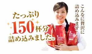 【澤井珈琲】 コーヒー専門店の150杯分入りブラジル・エクセレントブレンドコーヒー福袋(コーヒー/コーヒー豆/珈琲豆)