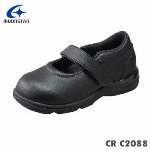ムーンスター スニーカー キャロット C2088 ブラック 20.0cm〜24.5cm キッズ用シューズ/12172416-l