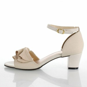 JELLY BEANS ジェリービーンズ 靴 125-4730 サンダル アンクルストラップ フリル ベージュ レディース