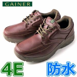 GAINER ゲイナー GN001 レッドブラウン メンズ スニーカー ウォーキング コンフォートシューズ 4E 防水