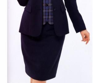 事務服 制服 en joie脇ゴムスカート(60cm丈)51076 大きいサイズ17号・19号 アンジョア事務服