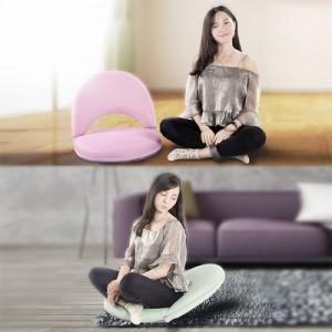 折り畳み座椅子 可変式 5段階調節 角度調節 背もたれ 高密度スポンジ 座布団 座り心地 ふわふわ 一人暮らし 和室 リビング◇FFC01