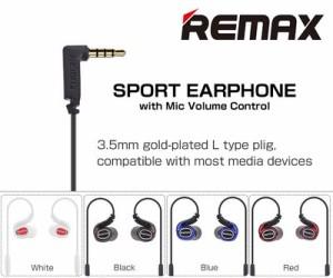 Remax スポーツイヤホン ハンズフリー 通話 リモコン 音楽 曲 飛ばす 戻す 音量調整◇RM-S1PRO