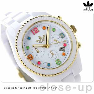 アディダス オリジナルス ブリスベン ナイロン クロノグラフ ADH2945 adidas 腕時計 クオーツ ホワイト×マルチカラー