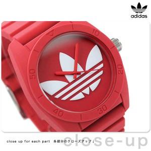 【あす着】アディダス サンティアゴ ADH6168 adidas 腕時計 レッド ラバーベルト