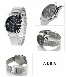 【あす着】セイコー アルバ ソーラー メンズ 腕時計 AEFD553 SEIKO ALBA ブラック